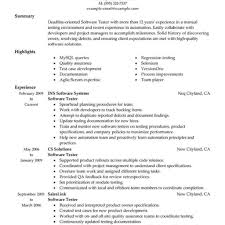 Entry Level Manual Qa Tester Resume Sample Archives Spartaces Resumes