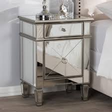hollywood regency mirrored furniture. Baxton Studio Claudia Hollywood Regency Glamour Style Mirrored Nightstand Furniture H