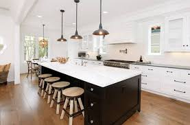 image of industrial nautical pendant lights for kitchen island