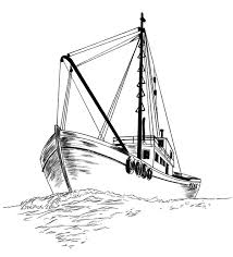 Small Picture Fishing Boat Fishing Boat Sketch Coloring Pages Fishing Boat