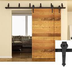 3m to 5m arrow design style byp sliding barn wood door hardware interior rustic sliding barn