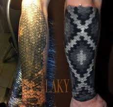 Black And Grey Snakeskin Cover Up Tattoo Venice Tattoo Art Designs