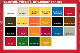 Tractor Paint Color Chart Tractor Supply Colors Tractor