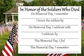 Memorial Day Poetry Templates