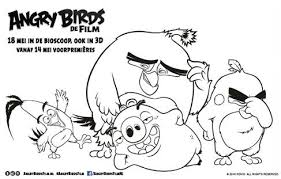 Angry Birds Kleurplaten Space