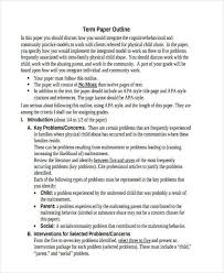 10 paper outline templates free