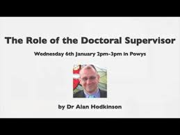 The role of doctoral supervisor - YouTube