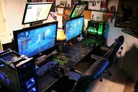 home office gaming computer. Elegant Gaming Computer Desk Setup Innovative Top Home Decorating Ideas Office I