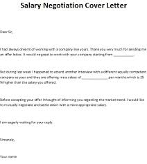 salary negotiation cover letter
