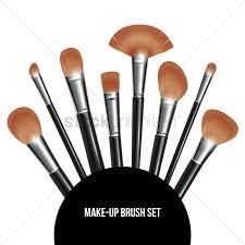 makeup brush clipart. make-up brush set vector graphic makeup clipart