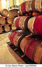 stacked oak barrels. Wine Barrels - Csp1808364 Stacked Oak