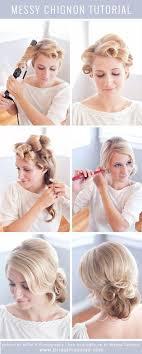 messy chignon tutorial wedding hair designs for bridal