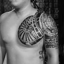 Makifiy Large Temporary Tattoo Similar The Rock Big Arm Chest Totem