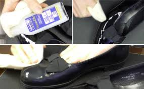 apply the saphir vernis rife patent leather cleaner
