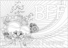 Printable Bff Teenage Coloring Page For Girls Online Coloring