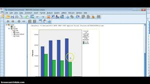 How To Percentage A Cluster Or Stacked Bar Graph In Spss
