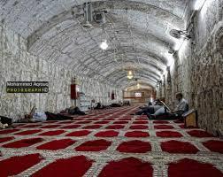 القدس   صورة من داخل جامع الأقصى القديم ، الذي يقع أسفل المصلى القبلي في المسجد  الأقصى