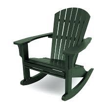 Adirondack Rocking Chair Seashell Rocking Chair Recycled Plastic