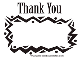 All Free Black And White Thank You Notes 115409 Png