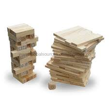Wooden Bricks Game China Intelligence Wooden Tower Game Toy Made of Solid Wood in 12