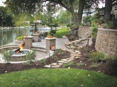 gallery outdoor living wall featuring: patio and fire pit featuring diamond pro stone cutar wall system