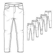 How To Draw Pants Pin By Mutya On Technical Drawings In 2019 Jeans Drawing