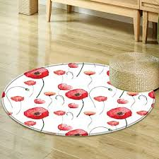 Backyards By Design Extraordinary Amazon Mikihome Round Area Rug Poppy Decor Blossom Poppy