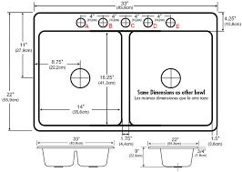 view larger fabulous standard double kitchen sink size standard