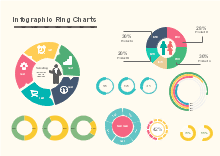 Infographic Ring Charts Infographic Chart Design Chart