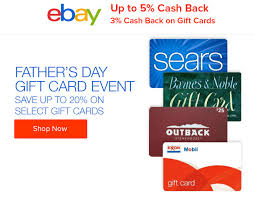 Registering your gift card and/or price privileges fuel discount card prevents someone else from using the balance on your card(s) in the event that it is lost or stolen. Ebates Offering 3 Cash Back On Gift Card Purchases Made On Ebay Possible Father Day Sale Doctor Of Credit