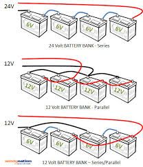 how configure battery bank web battery banks are also configured series parallel or a series parallel connections to achieve the desired battery bank voltage such as 12v or 24v