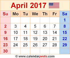 april calendar april 2017 calendar as a graphic image file in png format