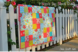 Big Block Quilt Patterns For Beginners Fascinating 48Patch Big Block Quilt Tutorial