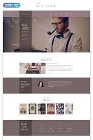Book Author Website Design Mark Oswald Writer Responsive Minimal Html5 Website Template