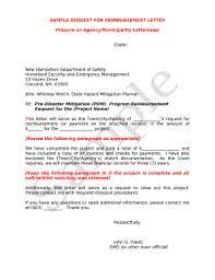 Sample Reimbursement Letters Request For Reimbursement Letter Doc Template Pdffiller