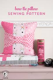 Pillow Sewing Patterns Delectable Bow Tie Pillow Sewing Pattern The Polka Dot Chair