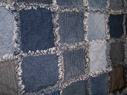 Jean Quilts - color graded I wish I was a kick ass quilter like ... & pictures of blue jean rag quilts | Denim Jean Rag Quilt, made from denim  jeans Adamdwight.com