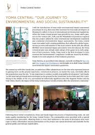 Yoma Central: our journey to environmental and social sustainability