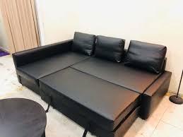 black ikea friheten corner sofa bed