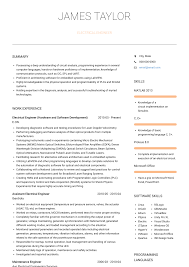 Electrical Engineering Sample Resumes Electrical Engineer Resume Samples And Templates Visualcv