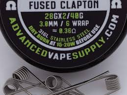 Fused Clapton Ohm Chart 10 Pack Fused Clapton Coils 316l Ss 28gx2 40g