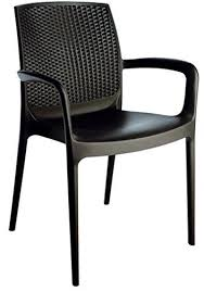 stackable patio dining armed chair