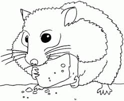Small Picture Cute Hamtaro Coloring Pages Coloring Page Hamster In General Style