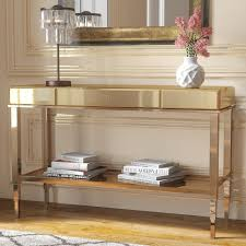 mirror console table. Gold Mirror Console Table