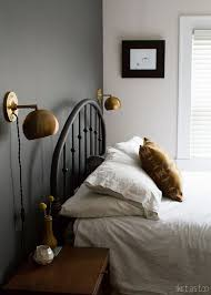 bedroom lighting ideas bedroom sconces. sonora pillow skirt as top love the dark wall and schoolhouse electric lampsu2026 bedroom lighting ideas sconces c