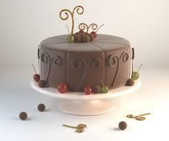Chocolate Cake 3d Model Chocolate Cgtrader
