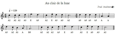 Vocalise, and bach's air on the g string. Au Clair De La Lune Sheet Music And Tin Whistle Notes Irish Folk Songs