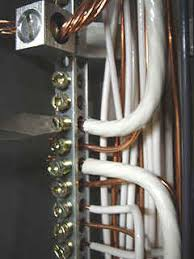 how to install a amp pole circuit breaker to power a sub tightening screw in ground neutral bus bar in main breaker box