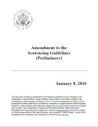 Sentencing Guidelines Chart 2018 Proposed 2018 Amendments To The Federal Sentencing
