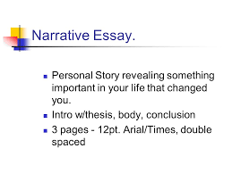 narrative essay personal story revealing something important in  1 narrative essay